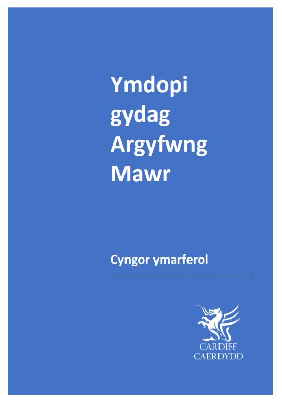 Ymdopi gydag Argyfwng Mawr